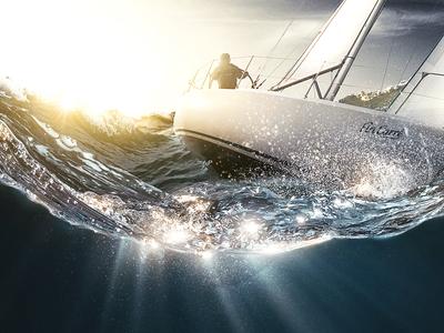 Fin Carré Sailing | LIDL INTERNATIONAL creative retouch montage photoshop sailing art digital retouching