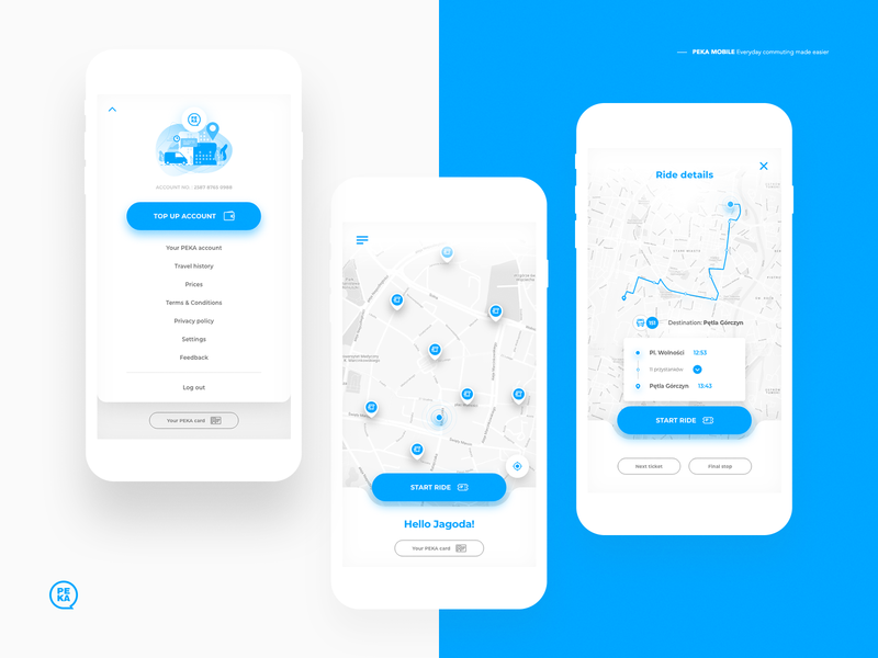 PEKA MOBILE / Concept mobile app mobile ui map transport poznan peka ux illustration digital ui user interface uidesign creative stx design