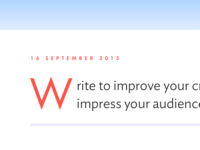 Write to improve