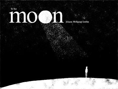 To the moon storytelling illustration