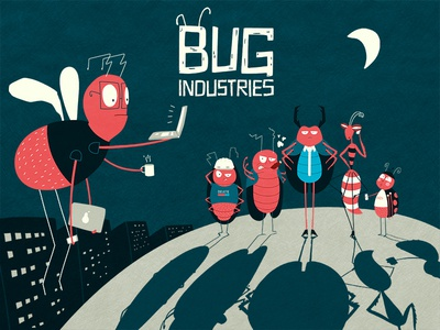 Bug Industries bug illustration character concept dice game game