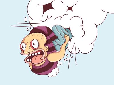Cause I'm going crazy cartoon comic crazy illustration