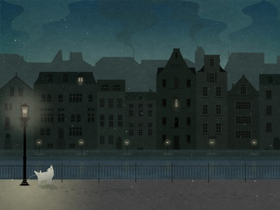 Almost silent night artwork illustration concept