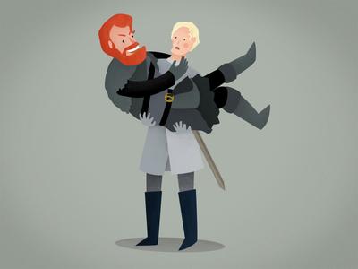 Tormund & Brienne illustration flat design love tormund brienne gof gameofthrones