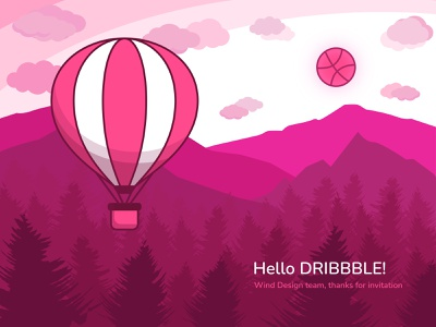 Hello Dribbble! web art graphic  design illustration vector design