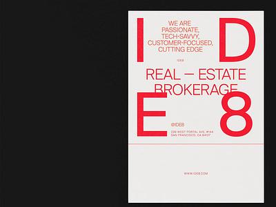 IDE8 Poster Design swiss style poster design cean minimalist red brand identity minimal design poster