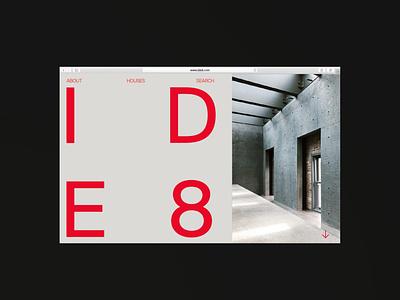 IDE8 New Website clean minimalist red swiss swiss style typography minimal minimal design website design website