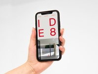 IDE8 New Website Mobile fonts interior design house red typography swiss style swiss clean minimalism minimal website design website