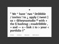 Two Dribbble Invites (all gone)