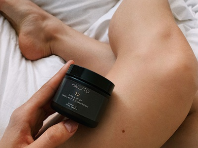 Humana Hauto Jar Photography art director photography packing design skincare brand identity branding brand