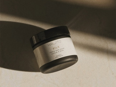 Humana Hauto Jar elegant neutral minimal brand skincare label design packaging design packaging