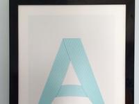 Letter A Print