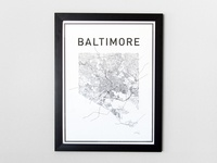 Baltimore City Print