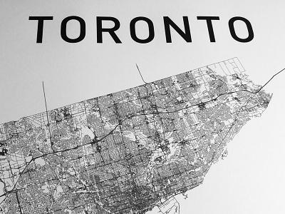 Toronto toronto map city print poster typography