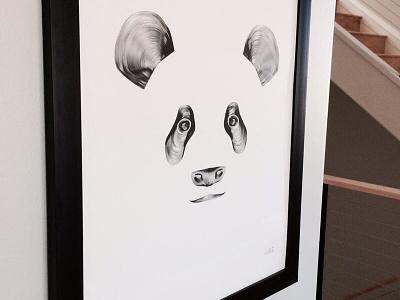 Panda Framed panda print poster