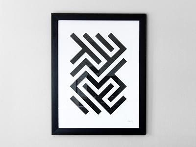 Lines Pattern Print pattern print poster