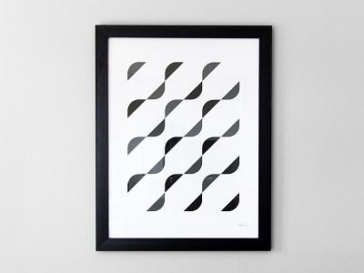 Waves Pattern Print pattern print poster