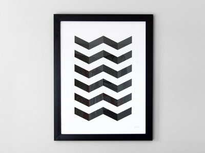 V Pattern Print pattern print poster