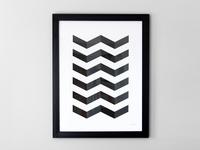 V Pattern Print