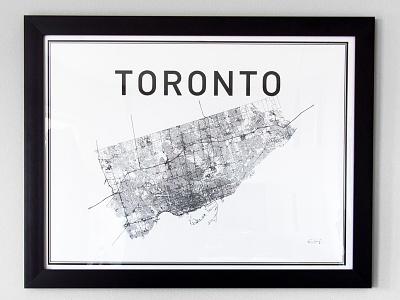 Toronto Print toronto canada print poster city map