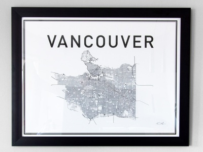 Vancouver Print canada print poster city map vancouver
