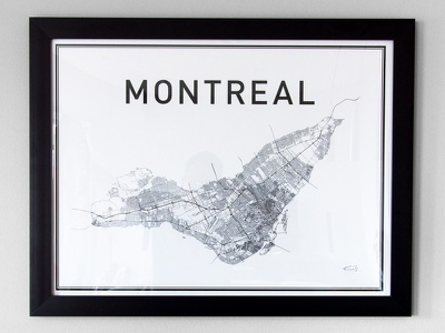 Montreal Print montreal canada print poster city map