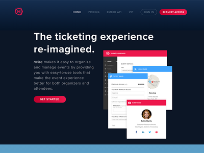 nvite redesign redesign homepage nvite
