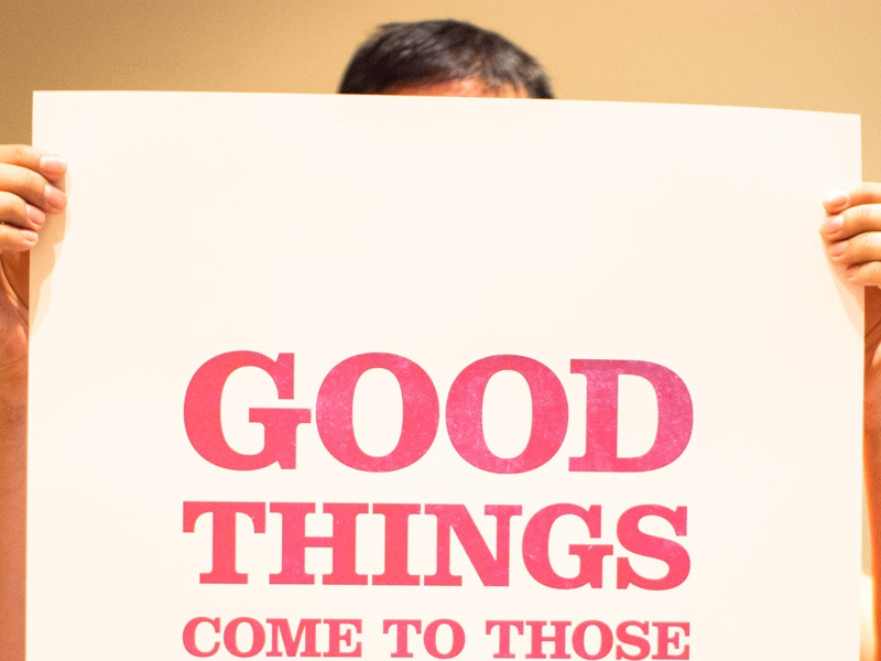 Good things print print poster typography