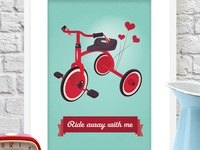 Ride Away With Me Print