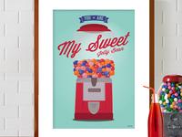 Gum-ball Machine Print