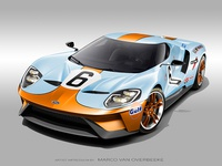 2017 Ford GT | '66-'69 24h Le Mans livery tribute