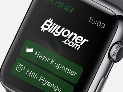 Bilyoner for Apple Watch watch gui apple watch gui apple watch apps watch mockup apps menu sport watch apple watch bilyoner ui ux