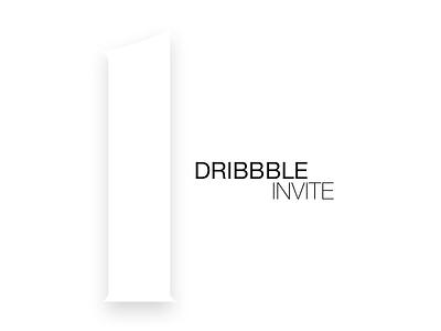 Dribbble Invite white pure minimal dribbble invite invitation minimalist portfolio invite dribbble