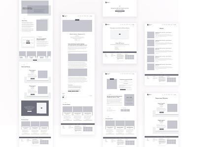 Low-fidelity wireframe uiux web website wireframes