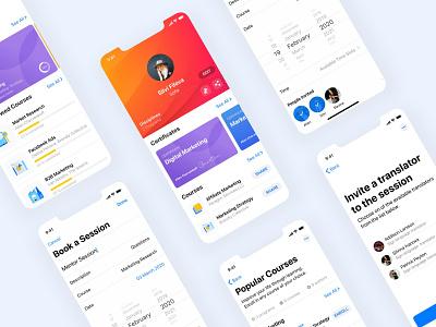 Mentorship app for uiux social app ios mobile app