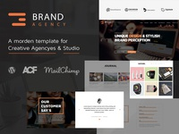 Brand Agency - One Page Theme for Agency / Business