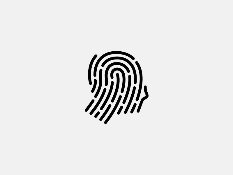 FINGERPRINT PROFILE fingerprint profile digital lines nanuca ediberidze app mark logo human