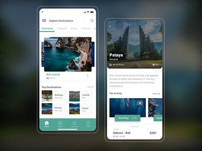 Travel App Design travel
