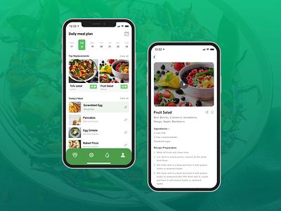 Diet Plan Design design diet plan ui ux app