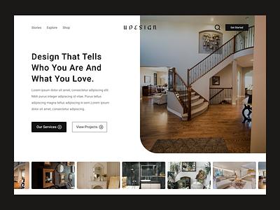 Interior Designer Website ui graphic design