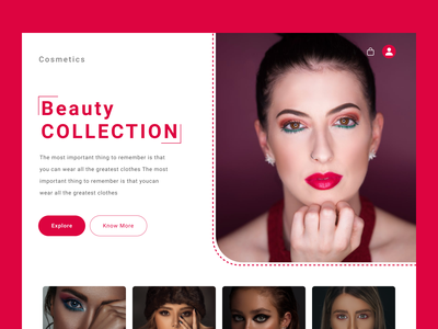 Beauty Webpage webpage graphic design ui