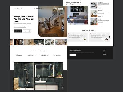 Interior Design Website interior branding webpage ui