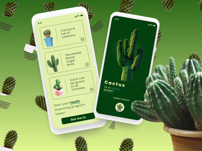 Cacti Healthy App userinterface uiux prototyping design typography uxui figma uxdesign ux ui uidesign