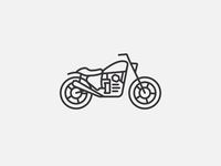 CX500 tattoo logo vector motorcycle minimal clean simple thicklines line icon art