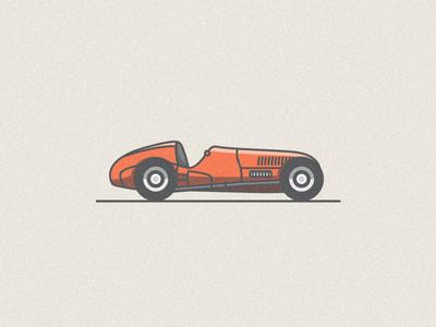 Fast Car mark line race car logo racer vroom flat colour vector mercedes illustration car