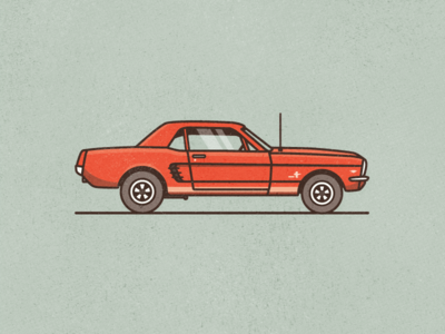 '66 Mustang icon classic texture illustration car 66 mustang ford