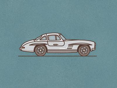 Mercedes 300 SL line vector 300 sl mercedes illustration car