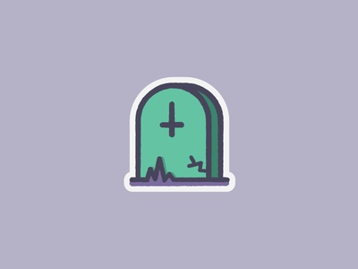 Graveyards sticker headstone grave