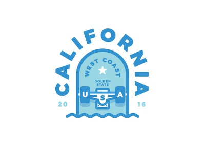 Cali T-Shirt california skate tee tshirt cali t-shirt west coast illustration skateboard thick lines ca usa