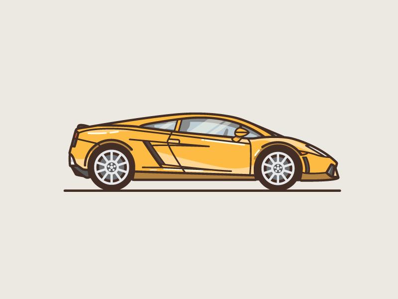 Lambo sports fast lamborghini line illustration car